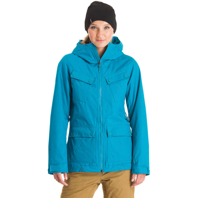 Manteau Pin-It-To-Win-It Turquoise chiné