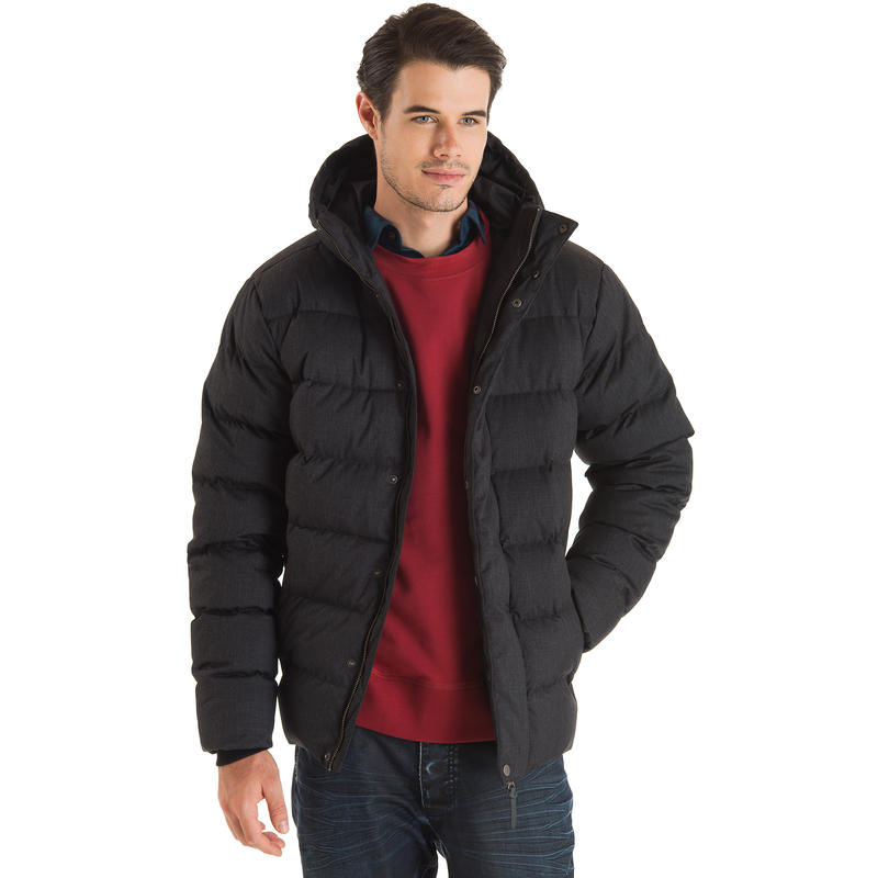 Co-Opted Down Jacket Black Heather