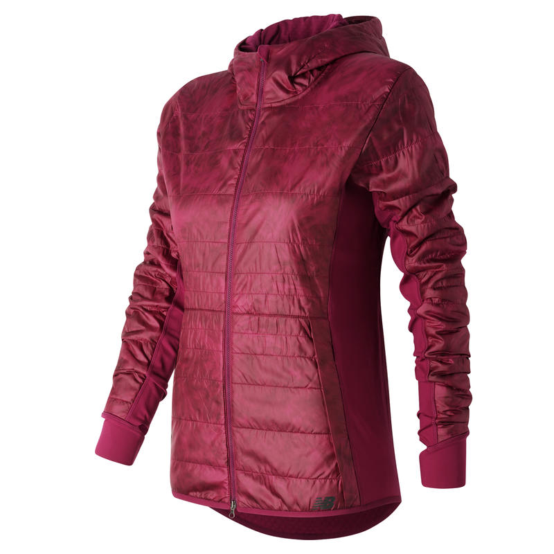 Heat Hybrid Jacket Jewel Feather Print/Jewel