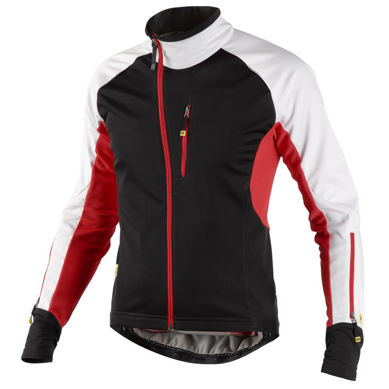 Manteau de vélo Sprint Thermo Noir/Rouge vif