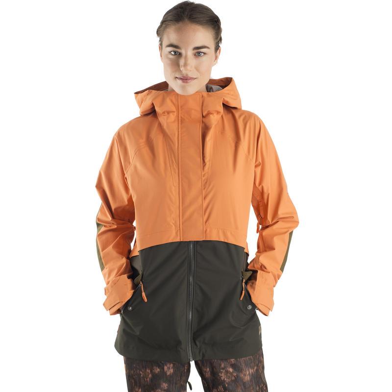 Manteau Trackback Orange voilé/Olive noire