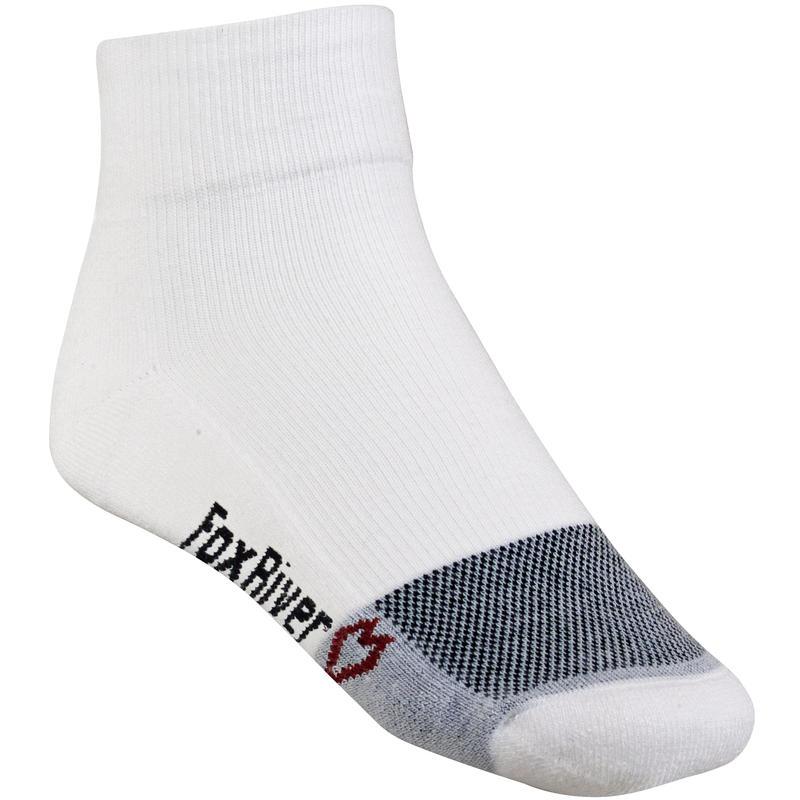 Wick Dry Triathlon Quarter Socks White/Black