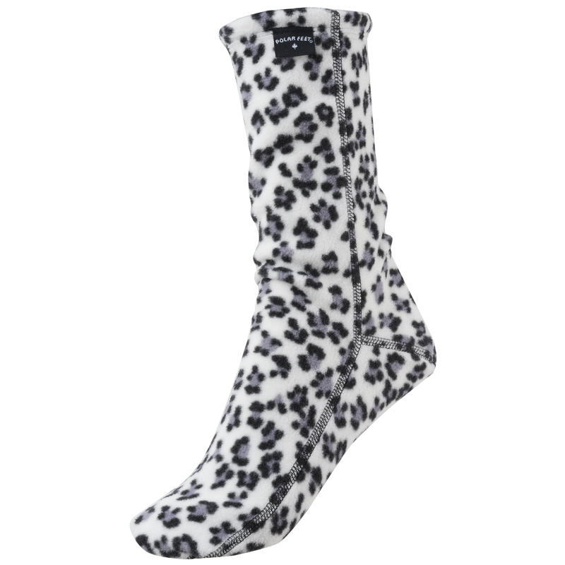 Fleece Socks Snow Leopard