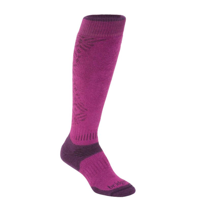 Chaussettes Mountain Ski Baies/Prune