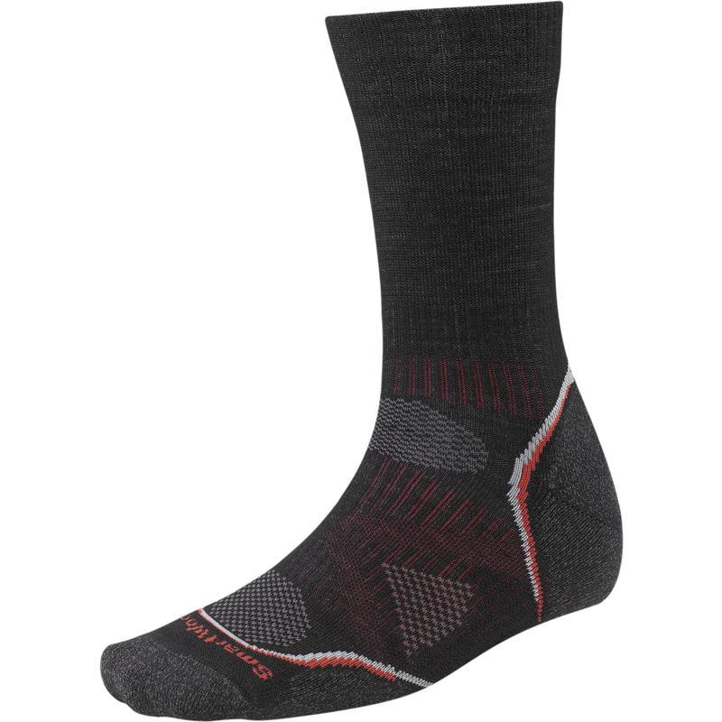 PhD Outdoor Light Crew Socks Black/Red