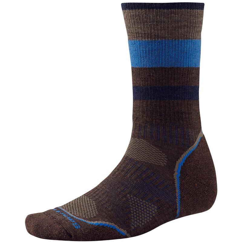 PhD Outdoor Medium Crew Socks Chestnut Pattern