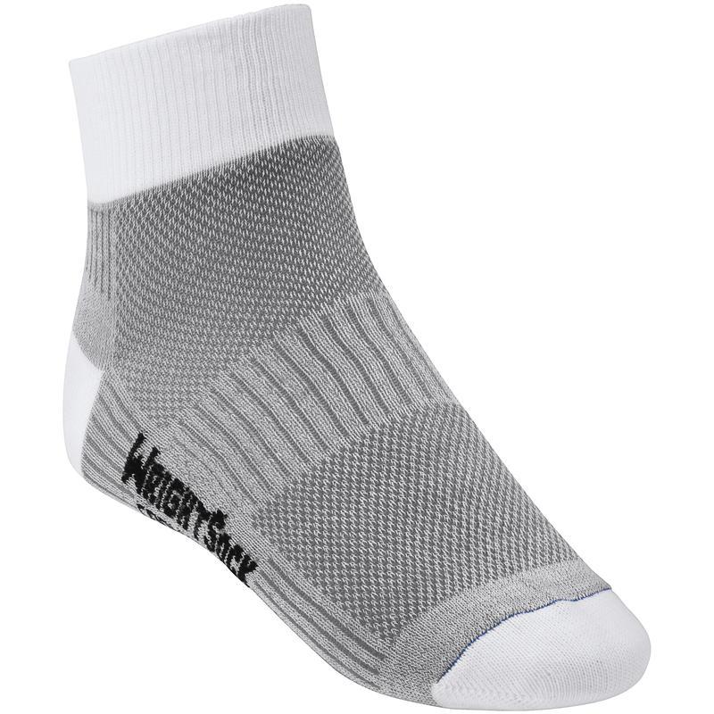Double Layer Coolmesh II Quarter Socks Light Grey/White