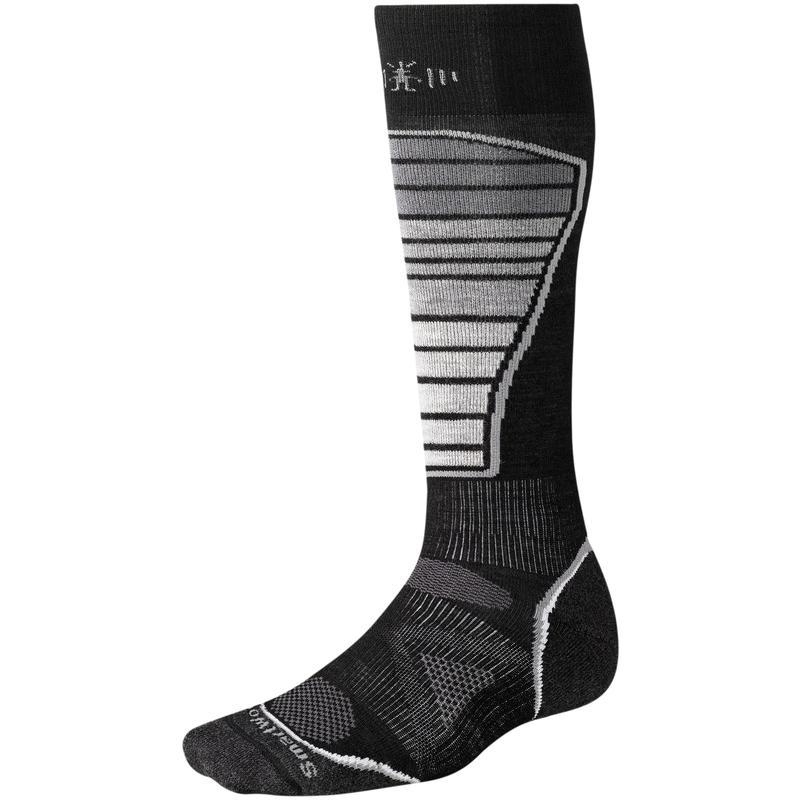 Chaussettes de ski PhD légères Noir/Gris