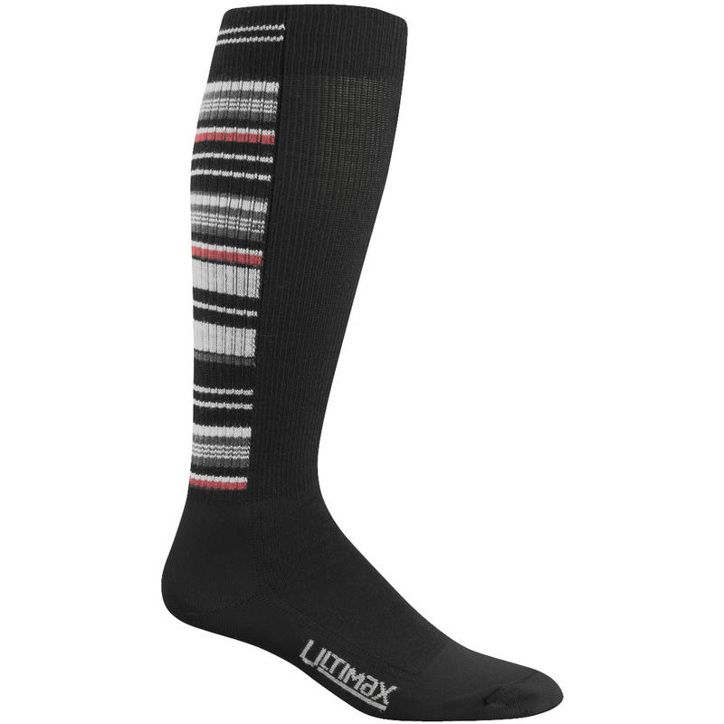 Snow Stripe Pro Ski Socks Black