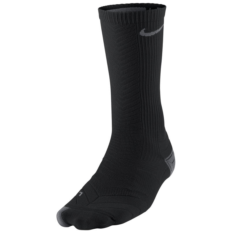 Elite Running Cushioned Crew Socks Black/Nano Grey