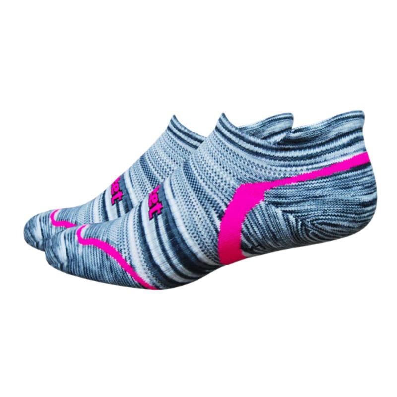 D-evo Tabby Socks Groovy Grey/Hi-Vis Pink