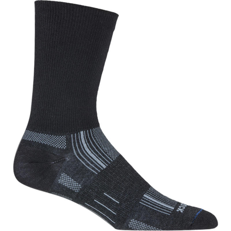 Double Layer Stride Crew Socks Black