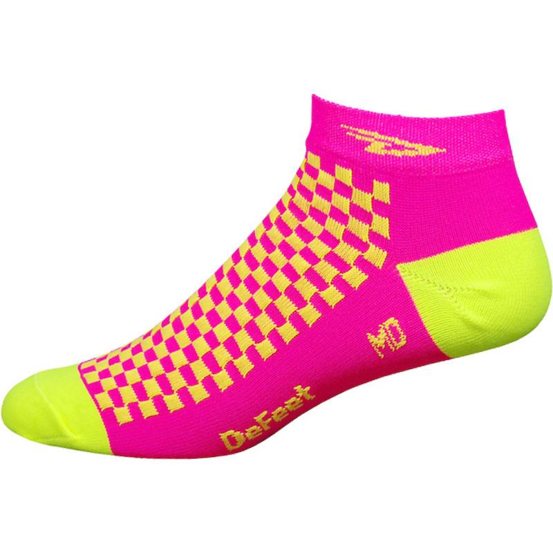 Speede D Logo Neon Socks Hi-Vis Pink/Hi-Vis Yellow