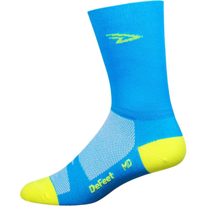 Chaussettes Aireator D Logo Neon Bleu processus/Jaune Hi-Vis
