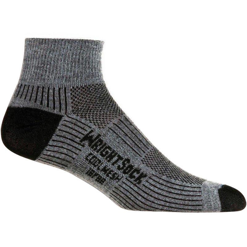 Double Layer Coolmesh II Qtr Socks (2 Pack) Grey