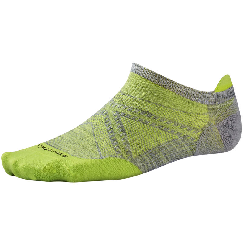 PhD Run UL Micro Socks Disc Light Gray/Smartwool Green