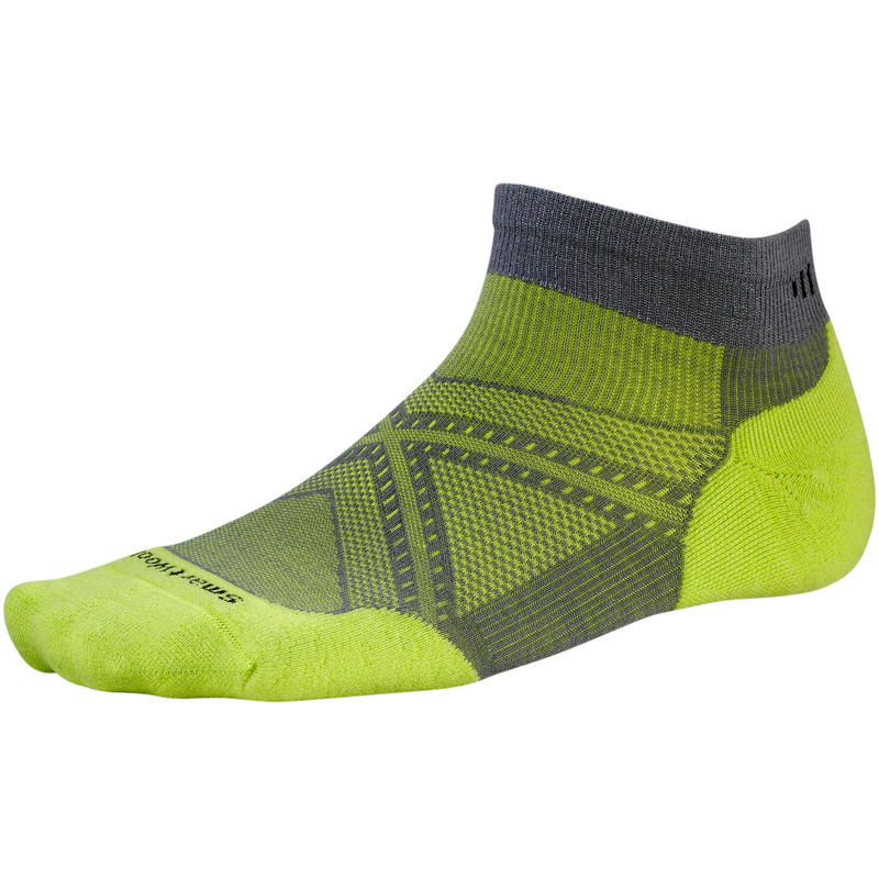 PhD Run Light Elite Low Cut Socks Graphite/Smartwool Green