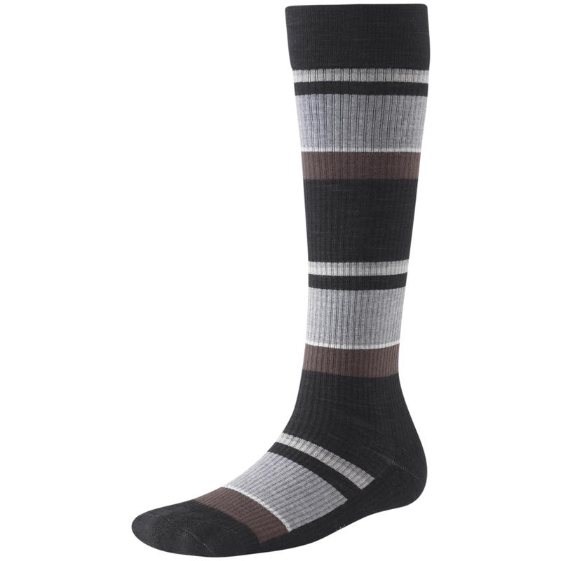 StandUP Graduated Compression Pattern Sock Black Multi Stripe