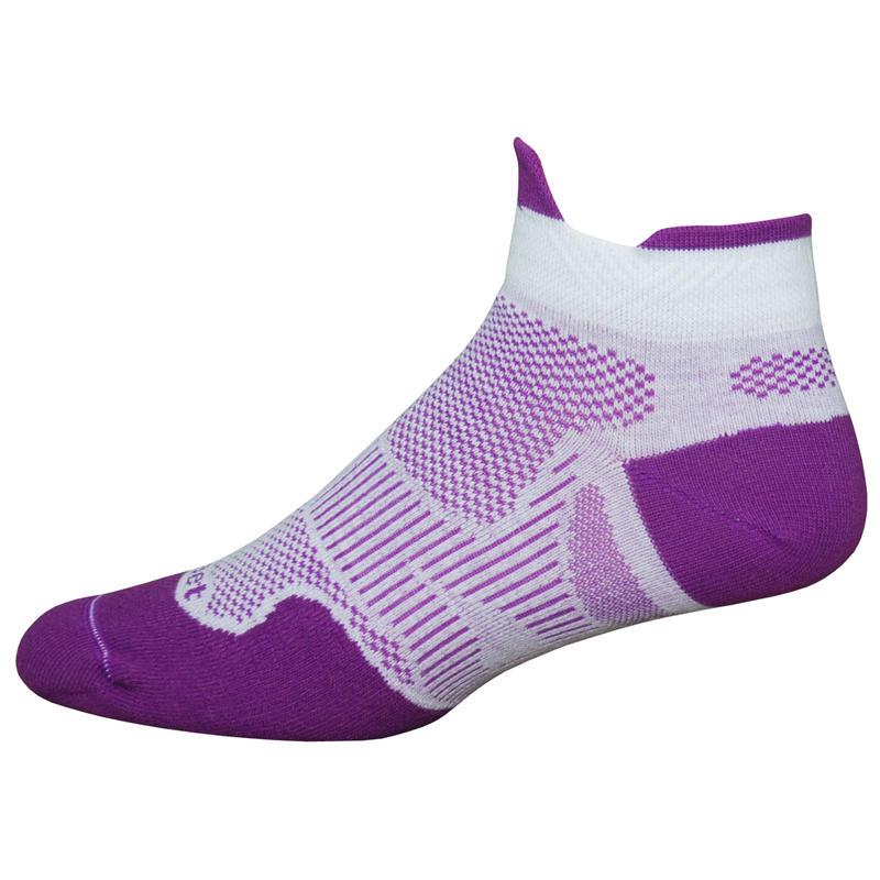 Meta Tabby Socks Purple/White