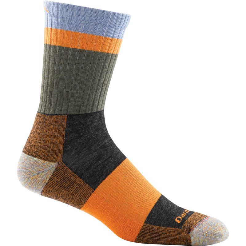 Light Hiker Micro Crew Socks Heady Stripe Orange