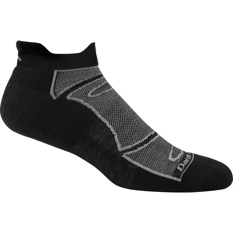 Endurance Light No Show Tab Socks Black/Grey
