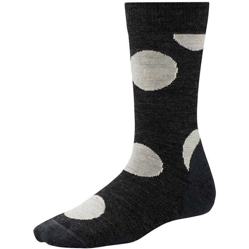Polk-A-Dot Crew Socks Charcoal Heather