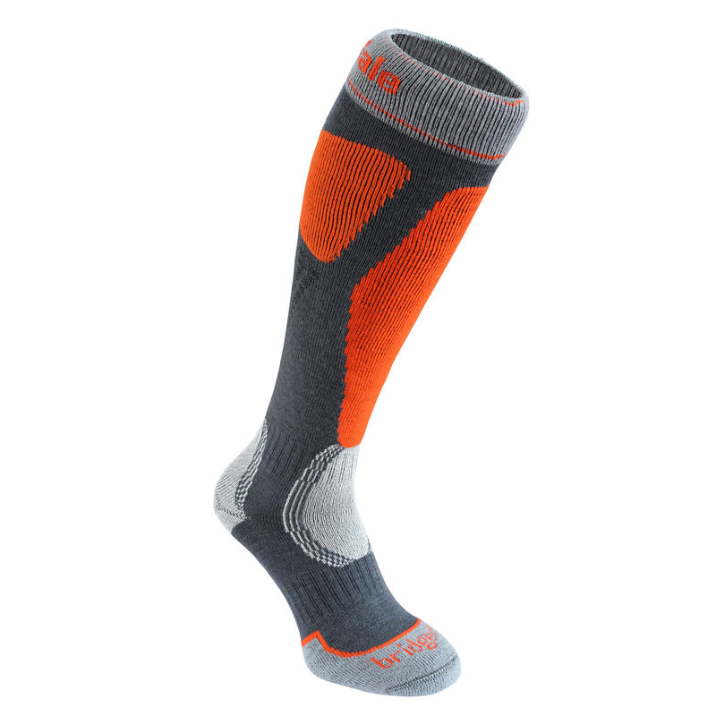 Control Fit II Ski Socks Gunmetal/Orange