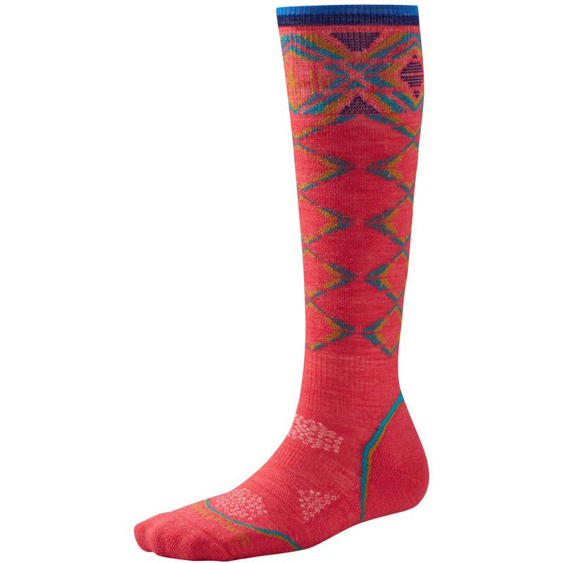 PhD Ski Light Pattern Socks Hibiscus