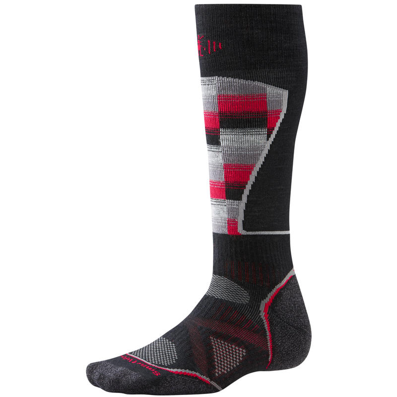 PhD Ski Medium Pattern Socks Black/Red