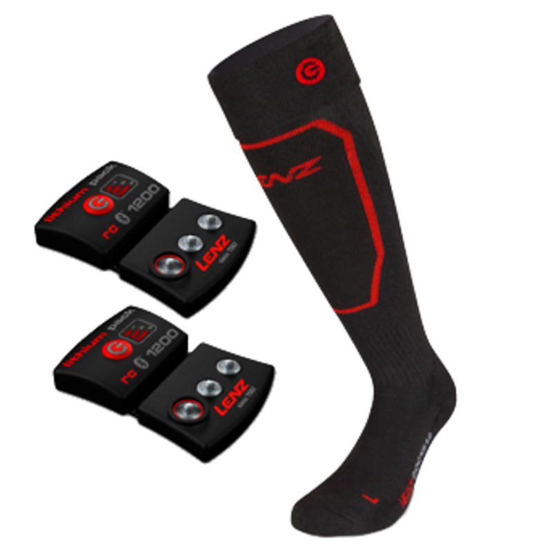Heat Socks 1.0+Lithium Pack rcB 1200 Black/Red