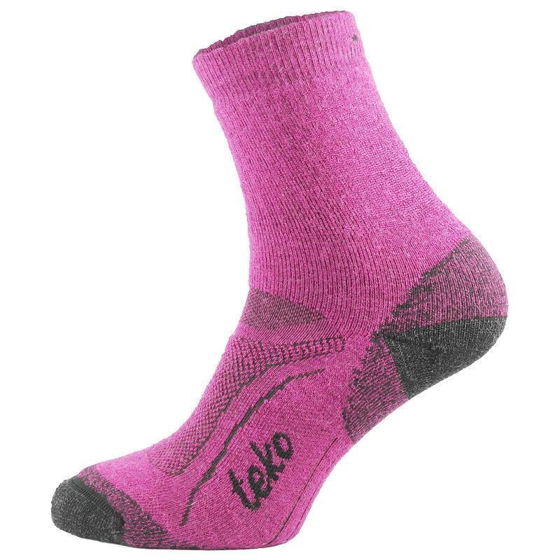 SIN3RGI Midweight Hiking Socks Cranberry/Charcoal