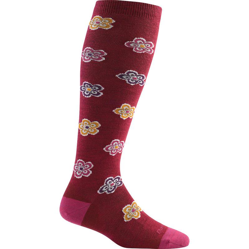 Starburst Knee High Light Socks Cranberry
