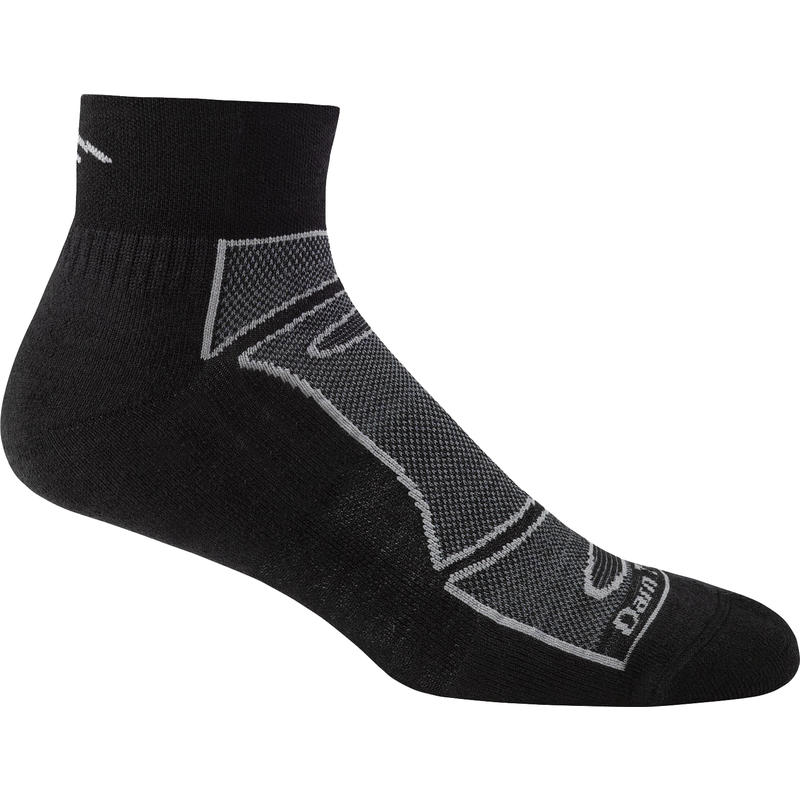 Endurance Light Quarter Sock Black/Grey