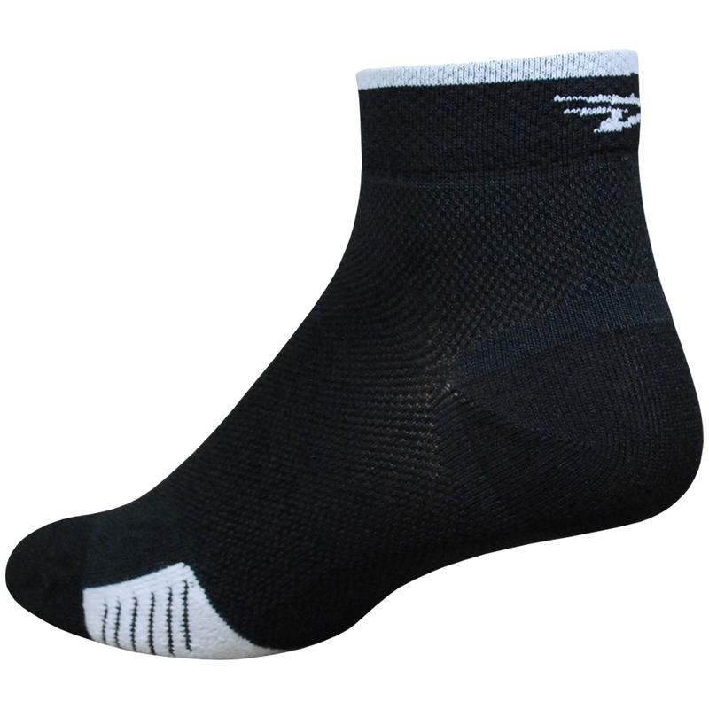 Chaussettes Cyclismo LT Noir/Rayures blanches