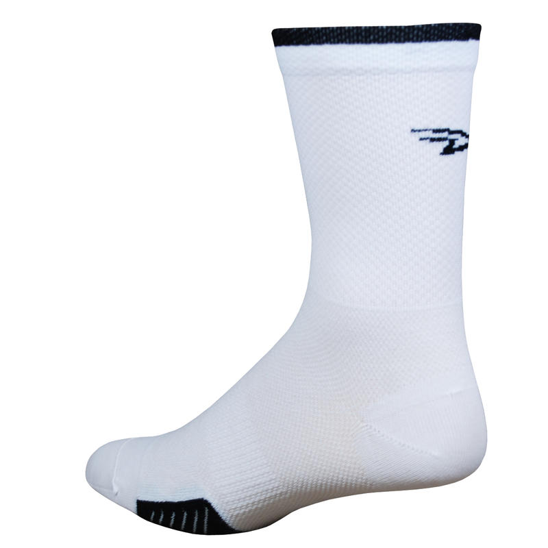 Chaussettes Cyclismo HT Blanc/Rayures noires
