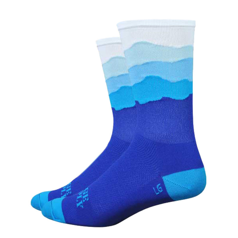 Chaussettes Ridge Supply HT Aireator-Skyline Orig. Bleu/Blanc