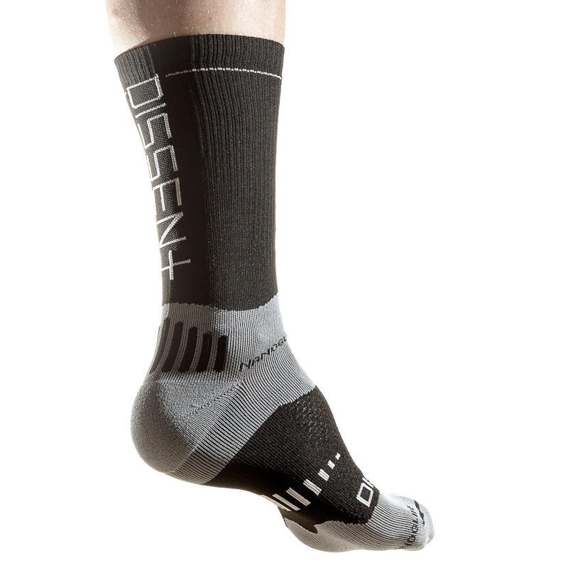 MTB Supercrew Comp. Nano 6in. Socks Black