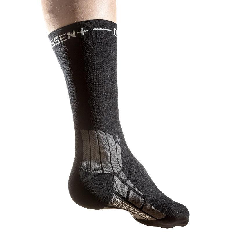 MTB Genuflex Comp. Crew Protect 8in. Socks Black