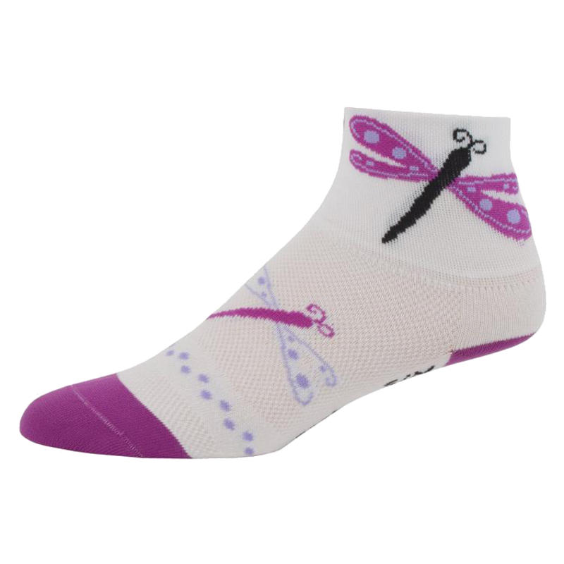 Chaussettes Damsel Fly Blanc/Pourpre