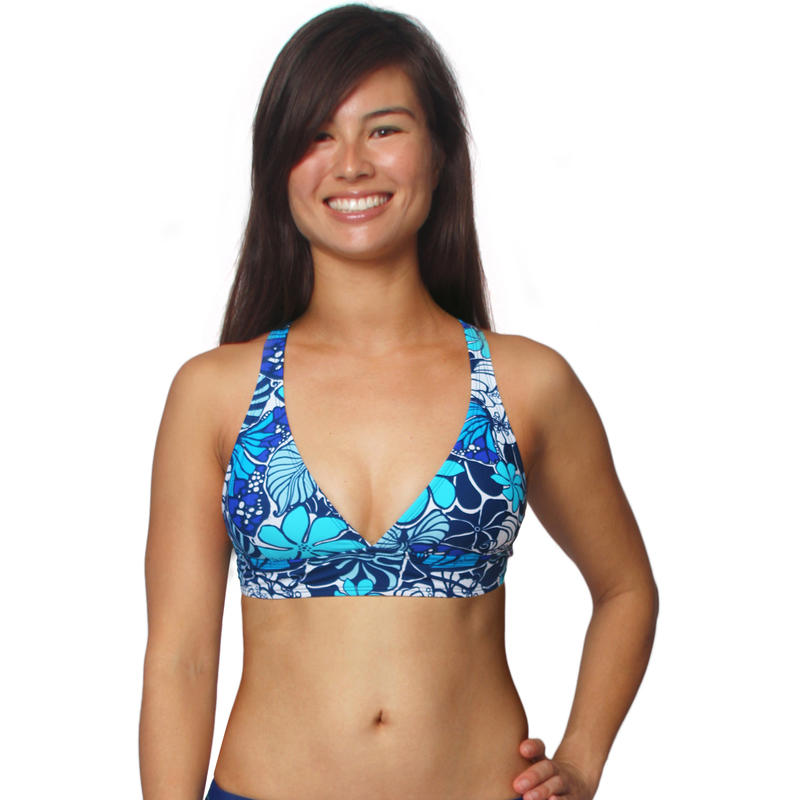 Haut de bikini Sushi Imprimé monarque marine