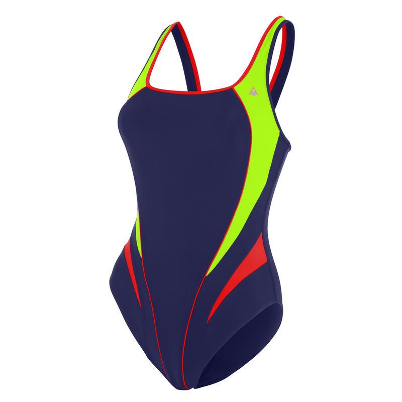 Lita Swimsuit Navy Blue/Light Green