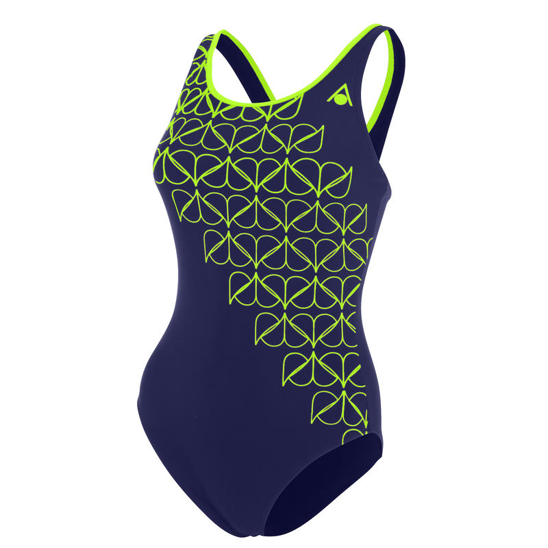 Molly Swimsuit Navy Blue/Light Green