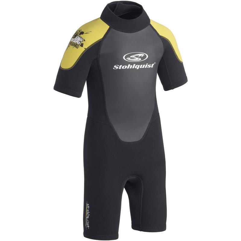 Kids Shortie Wetsuit Black/Yellow
