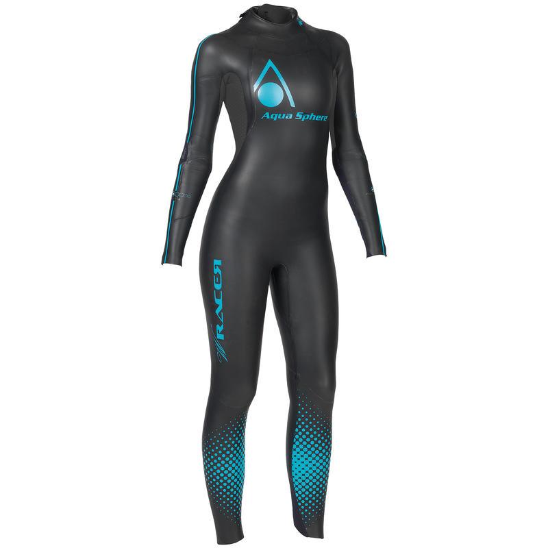 Combinaison de triathlon Racer Noir/Turquoise