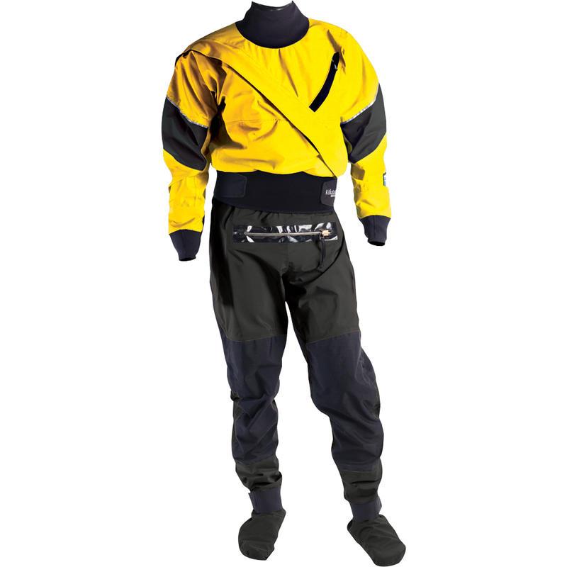 Gore-Tex Meridian Dry Suit w/Socks& Relief Zip Yellow/Black