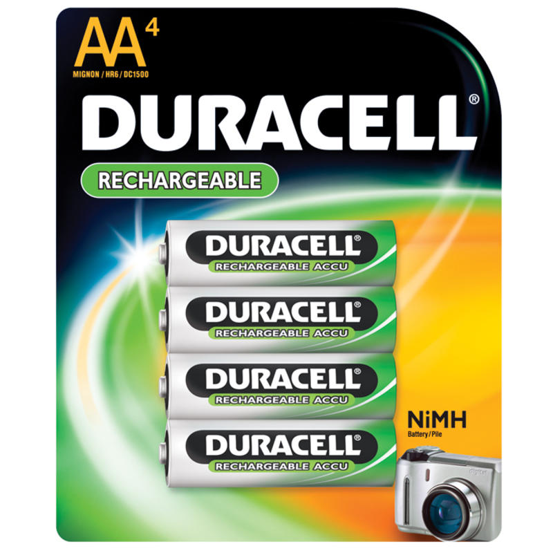 Rechargeable AA NiMH 4 Pack Batteries