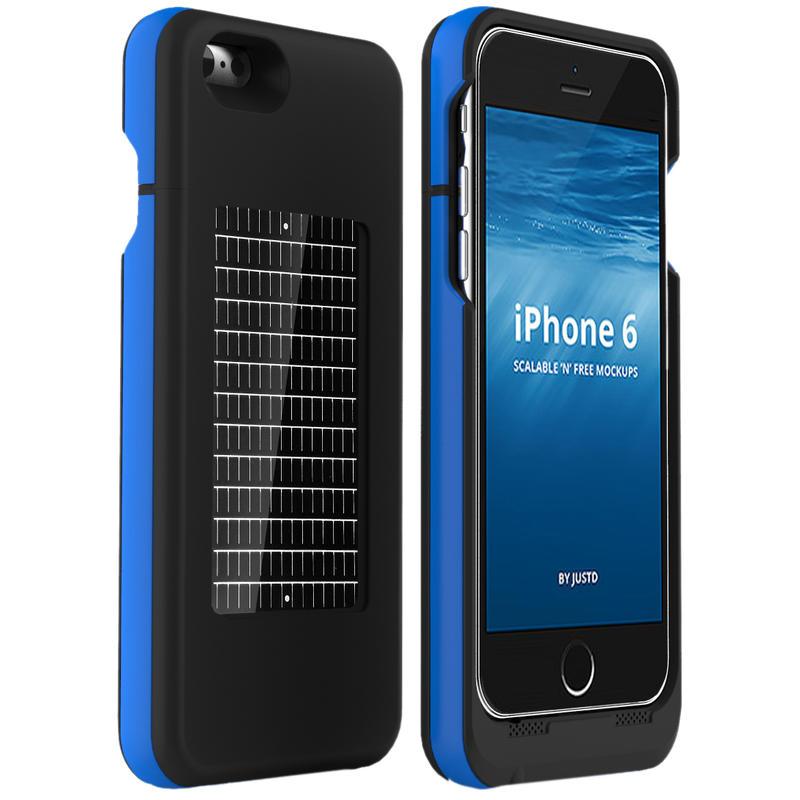 iPhone 6 EnerPlex Surfr Solar Battery Black/Blue
