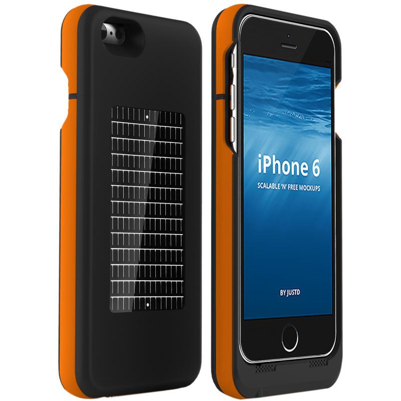 Étui chargeur solaire EnerPlex Surfr pour iPhone 6 Noir/Orange