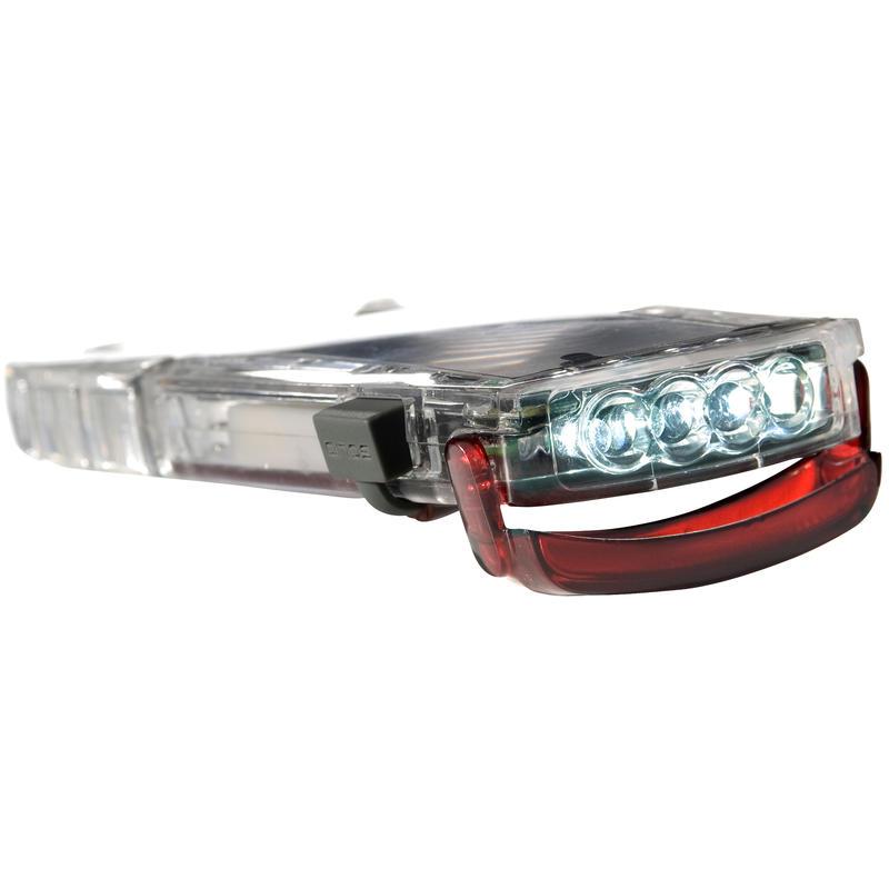 Lampe de poche solaire Clip-Mini Rouge translucide