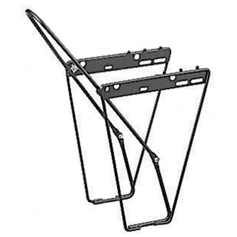 Lowrider Front Cycling Rack Black
